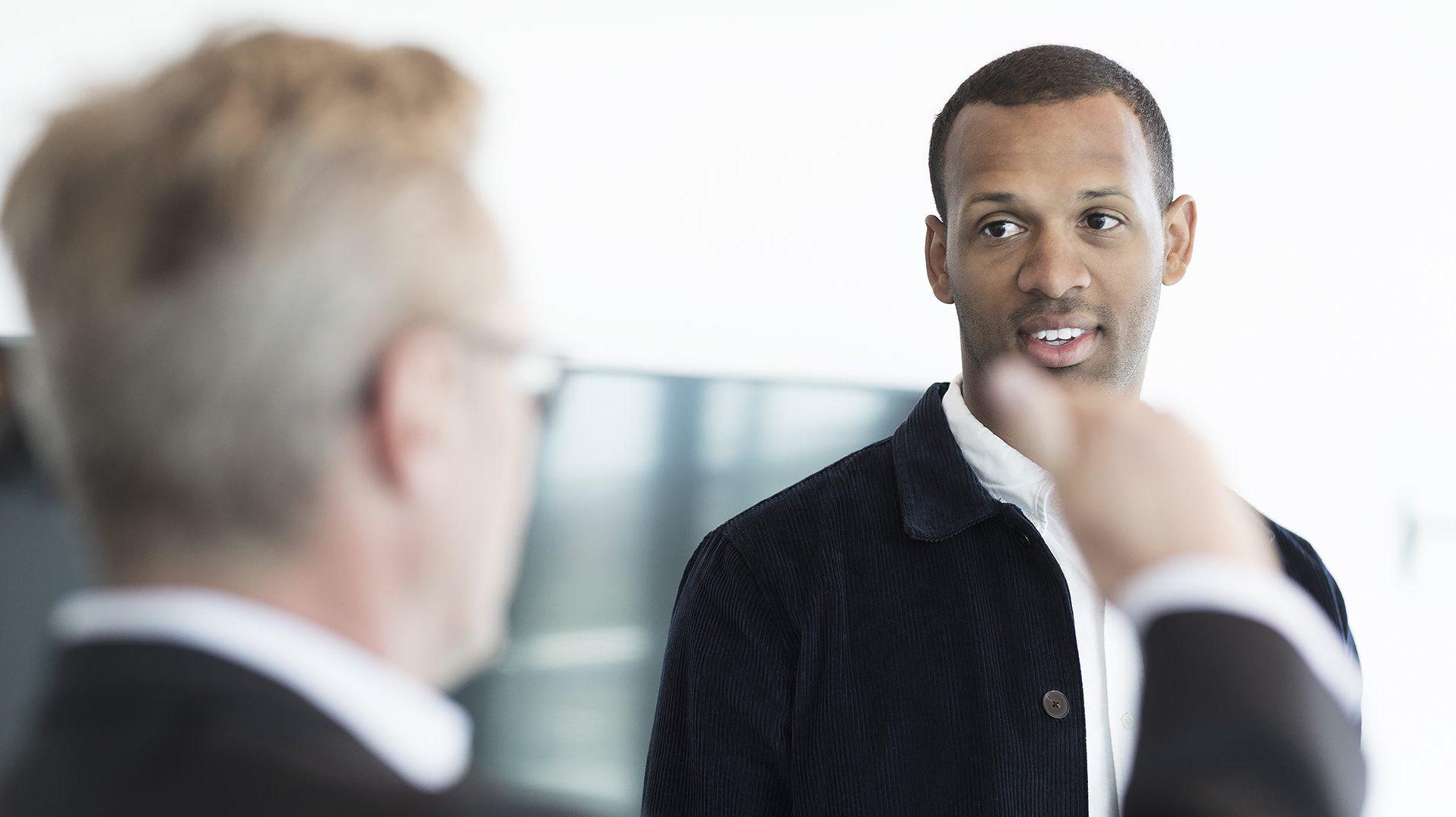 Men in suit talking