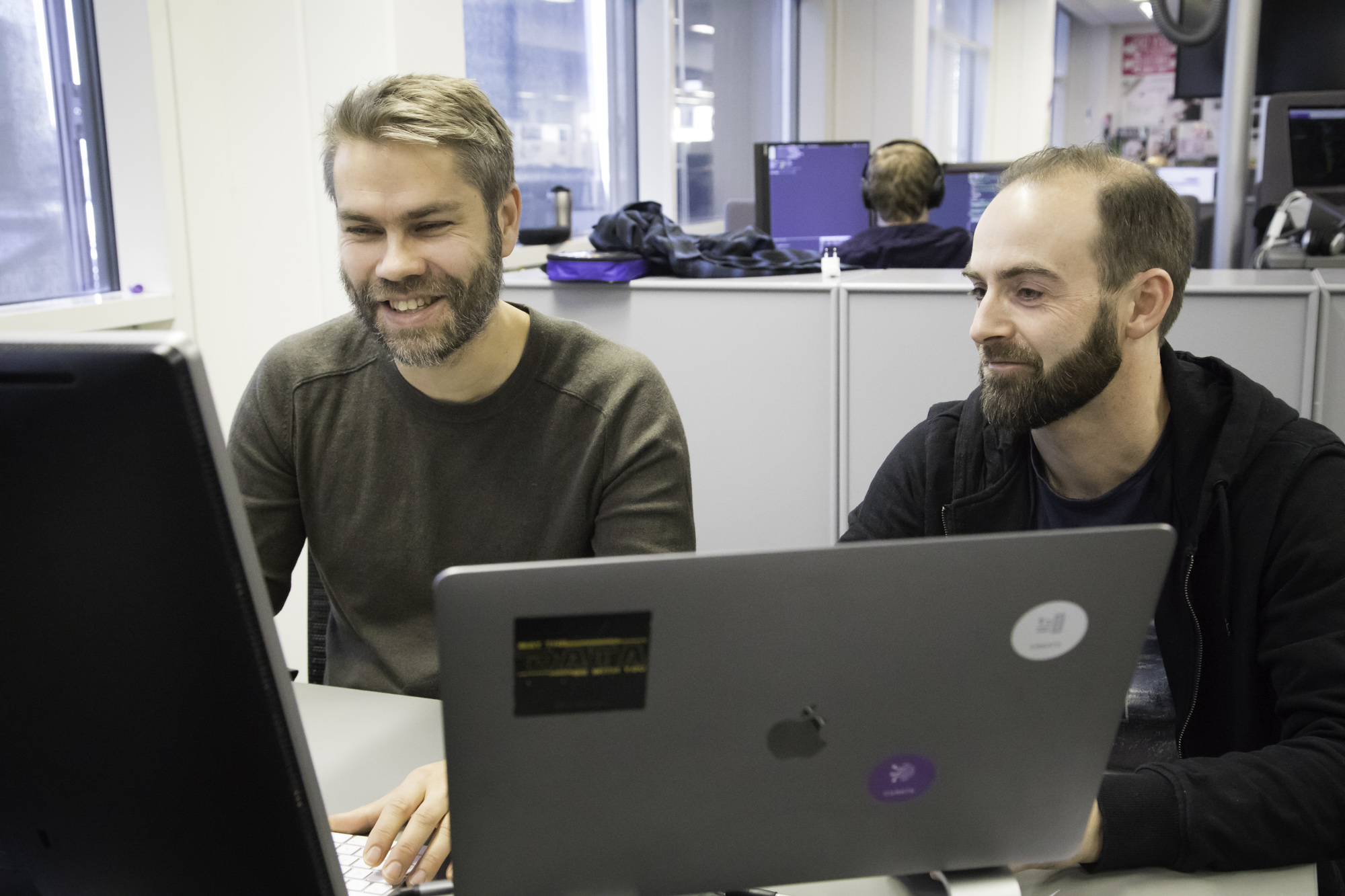 The Oslo part of the machine learning team: Fredrik Jørgensen and Vegard Sandvold