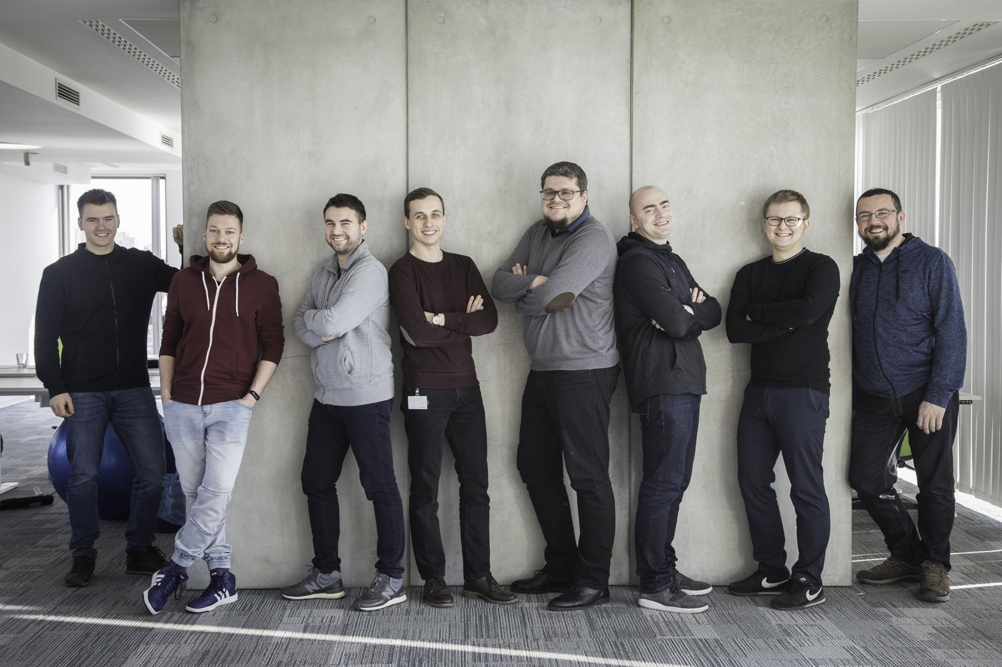The Krakow part of the Rose and Vantage teams. From left: Jacek Zawodny -> Michał Zydroń -> Kamil Lis -> Kamil Gruszowski -> Mateusz Janik -> Me -> Dawid Smoter -> Sebastian Maliszczak
