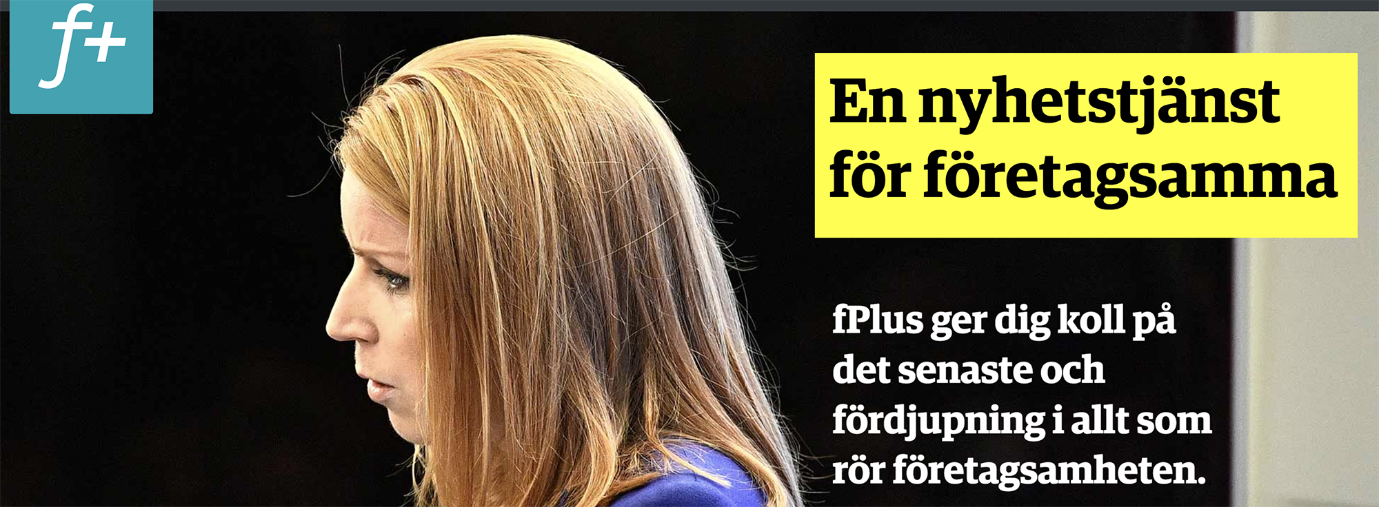 fPlus targets Swedish companies and uses both technology and content from Schibsted.