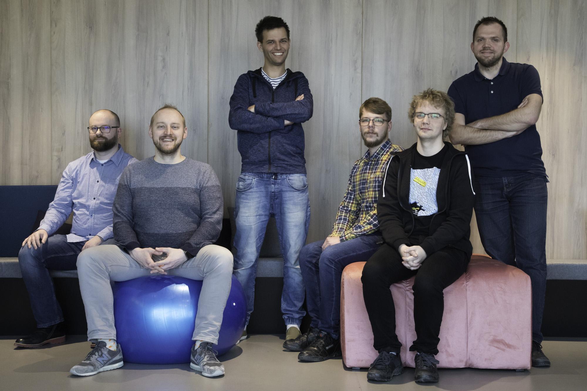 The Gdansk team: Damian Petla, Michał Waśniewski, Jakub Janczak, Michał Kawałko, Patryk Iwaniuk and Maciej Madaj.
