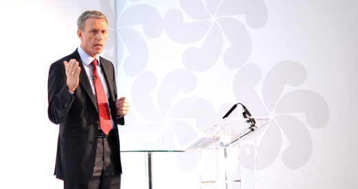 CEO Rolv Erik Ryssdal presenting at the 2013 Investor Day in London.