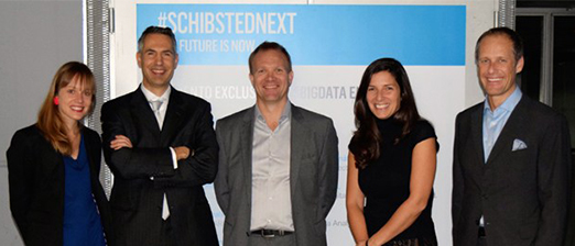 Speakers at Schibsted Next, experts on Big Data (from left): Claire Diaz-Ortiz, Edoardo Jacucci, Frode Nordseth, Natalia Escribano and Frode Eilertsen.