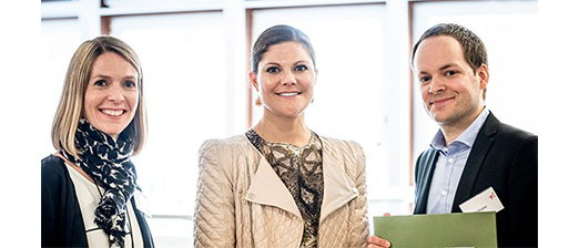 From left: Anna Backe, HRH Crown Princess Victoria and Jan Prokopec.
