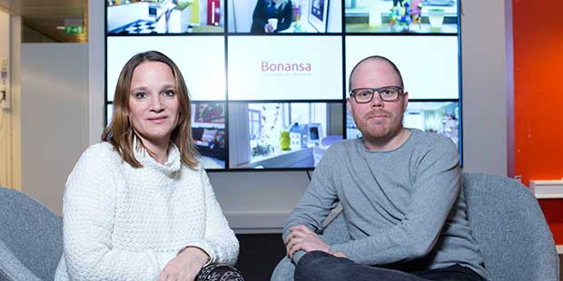 Linn Gjerstad, Product Owner for Bonansa, and Gard Steiro, Editor-in-Chief in BT, are excited to see how the new home and interior website will be received. Foto: Odd E. Nerbø/BT.