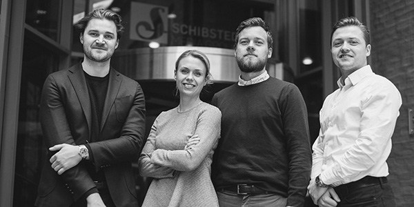 The new Programmatic and Data unit in Schibsted Norge Advertising: From left, Arvid Cedergren, Kathrine Saastad, Fredrik Lidal and Anders Heli. Photo: Leo A. J. Brunvoll.