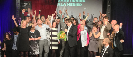 Dream Team: Aftonbladet took home four important awards in Stockholm