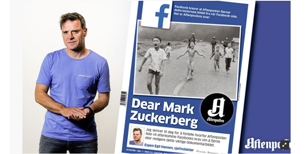 Facsimile of Aftenposten's open letter to Facebook CEO Mark Zuckerberg.
